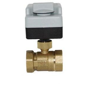 Image 2 - مفتاح كهربائي لتدفّق المياه الكرة 3 طريقة واحدة صمام بوشون اتجاهين ثلاثة أسلاك اثنين التحكم AC220V لولبة داخلية سبايك أدوات التكييف
