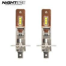 NIGHTEYE H1 9006 Car Led Headlights 12V 60W 1800lm Fog Lights Bulbs Copper Heat Conduction 6000K White Led Fog Lamps 2 Pcs