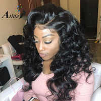 250% Density Lace Front Human Hair Wigs Deep Part 13*6 Preplucked Wave Curly Glueless Lace Frontal Wig With Baby Hair Remy Atina