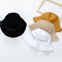 Female Fashion Bucket Hats Letter Embroidery Fisherman Cotton Street Fishing  2019 New Cool for Men and Women