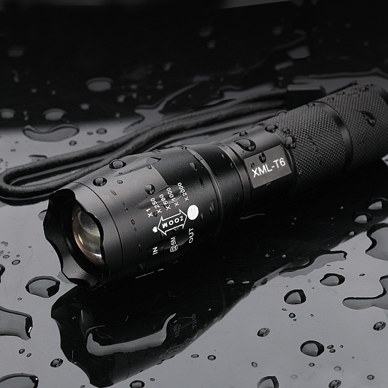 Camping Hiking Led Flash light Hunting Backpacking Ultra Bright CREE XML T6 Zoomable Waterproof Torch Lights Bike Light in LED Flashlights from Lights Lighting