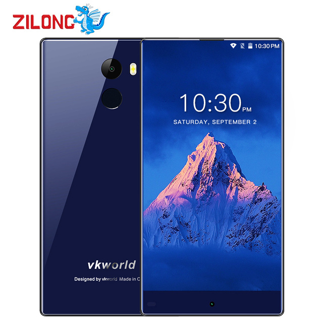 Vkworld Mix 5.5Inch Bezel-Less Screen Android 7.0 Smartphone MTK6737 Quad Core 2GB RAM 16GB 3500mAh 4G LTE Fingerprint Cellphone
