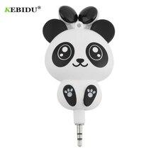 e94f7e7880533d kebidu 3.5mm Earphone Cute Panda Cartoon Retractable MP3 MP4 for Android  iOS Smart System Headphone
