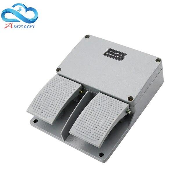 Interruptor de pie YDT1 16 carcasa de aluminio, interruptor de doble pedal gris, herramienta, accesorios