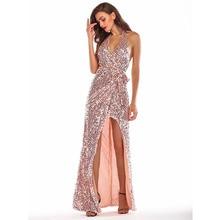 MUXU sequin pink dress glitter vestido vestidos women maxi sexy robe femme ete 2018 dresses long plus size party clothes autumn