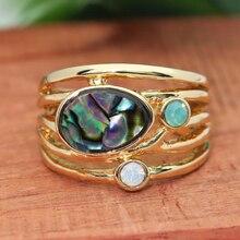 Anillos étnicos Boho exagerados para mujeres descolor creado joyería de cristal gótico Vintage oro hueco Diamante de imitación anillo O3M063