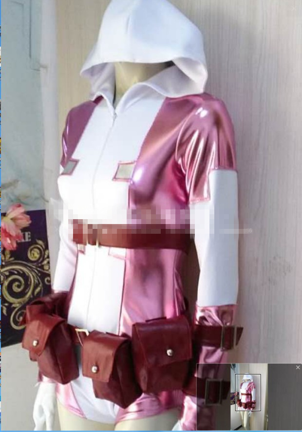 Gwenpool Pink Ghost cosplay costume jumpsuit customized