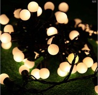 Waterproof 72 SMD LED Christmas String Lights Garden Decoration Window Decoration Cherry 10 M Black Wire
