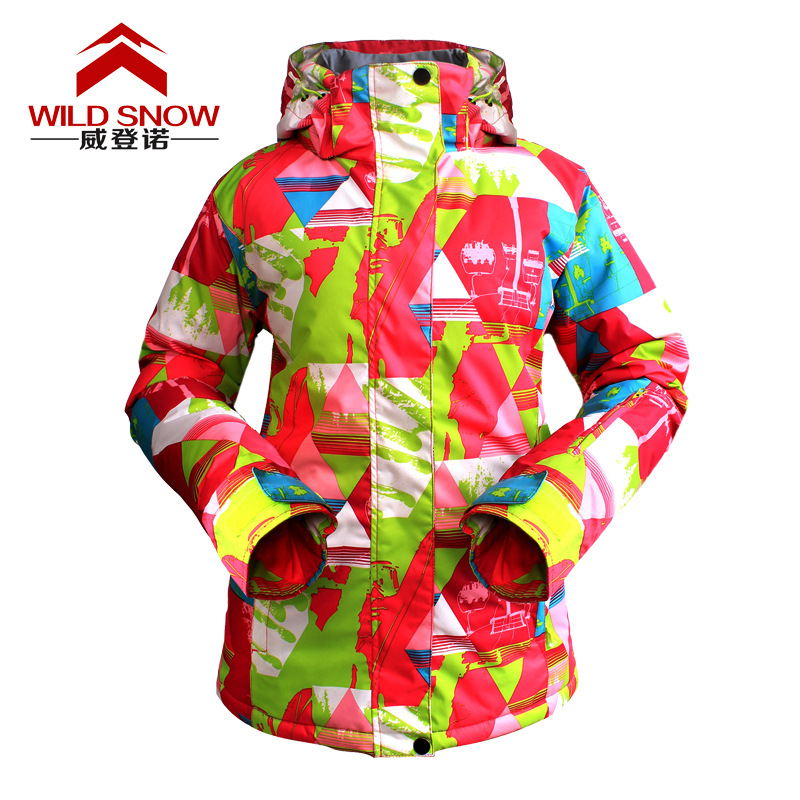 ФОТО Winter Skiing and Snowboarding Women Waterproof Windproof Breathable Warm Outdoor Sports Moutain Climbing Hiking Coat Jacket
