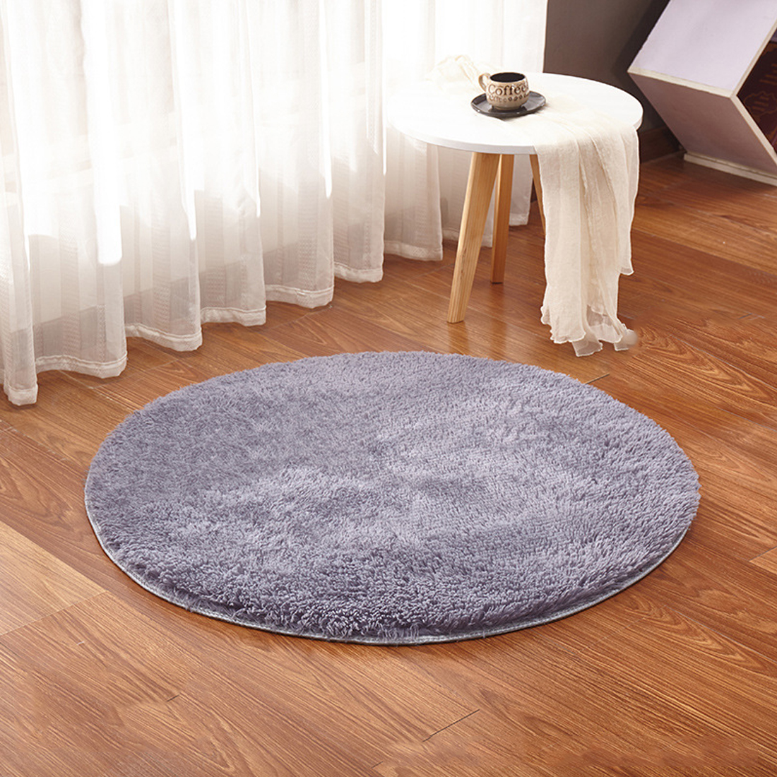 Us 1 21 27 Off Modern Mat Fluffy Round Rug Carpets For Living Room Decor Faux Fur Carpet Kids Room Long Plush Rugs For Bedroom Shaggy Area Rug In