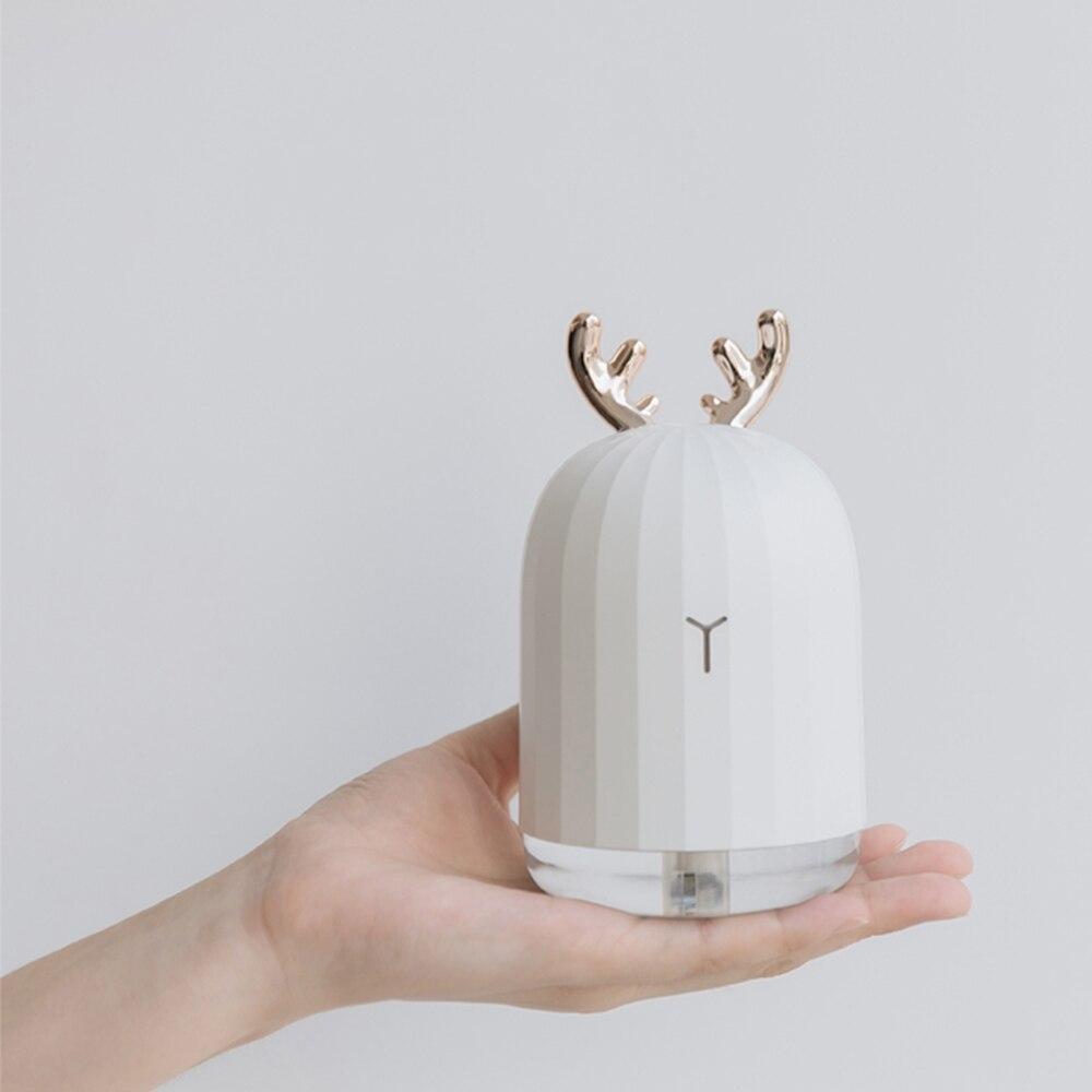Ультразвуковой увлажнитель воздуха 220 мл, аромараспылитель USB со светодиодной подсветкой, ночник, для дома и автомобиля