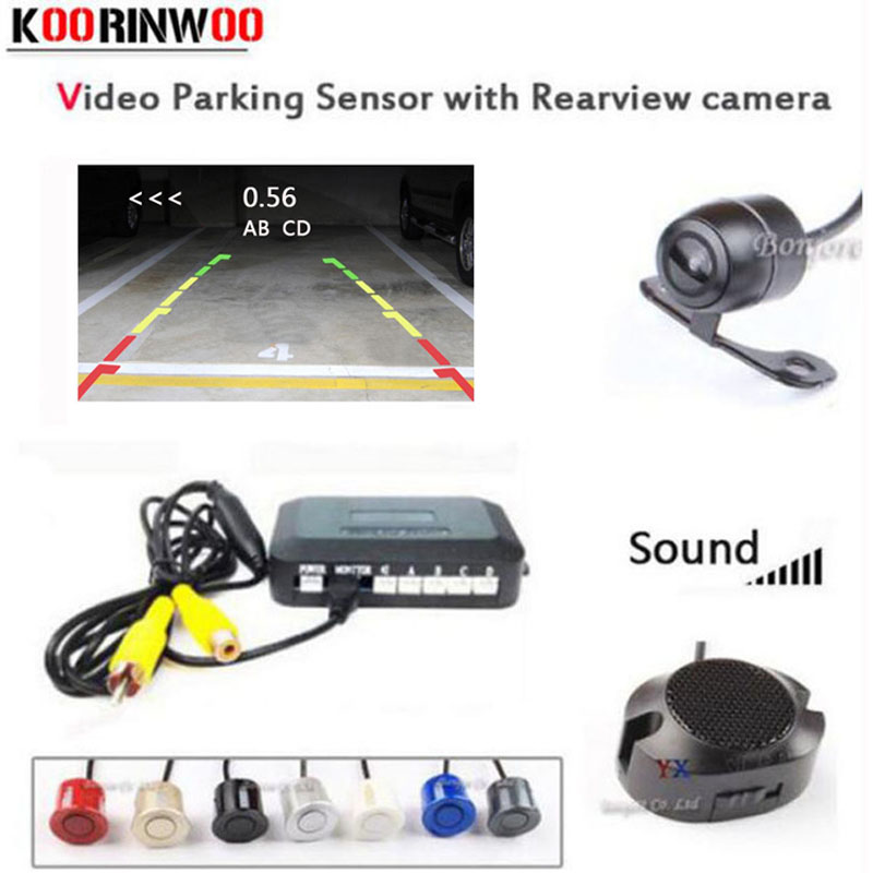 Koorinwoo Dual Core CPU Parktronic 4 car Parking Sensors car Rear view camera parking Accossories Park
