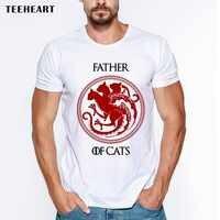 Папа кошек Мужская футболка напечатанные буквы Забавный футболки с коротким рукавом повседневные с o-образным вырезом хипстерские Топы