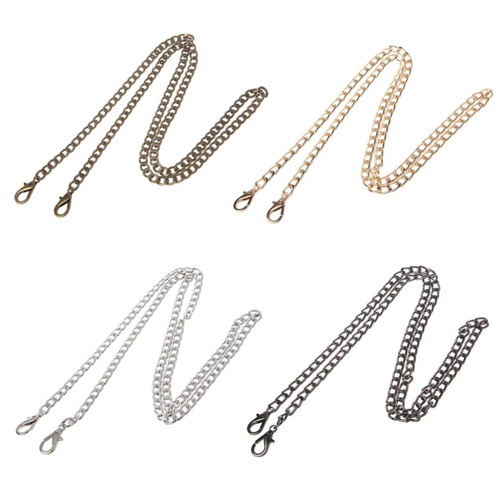 THINKTHENDO Long 100cm Luxury Fashion Metal 4 Color Strap Chain For Shoulder Cross Body Bag Handbag Purse Strap Accessories