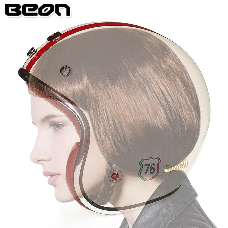 BEON harley retro style motorcycle helmet 3/4 open face helmet of Fiber Reinforced Plastics casque moto vintage 108