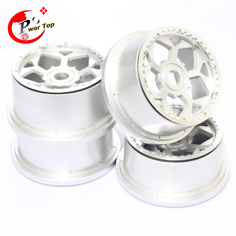 King Motor Baja T1000 Hunter alloy wheel hub rim for HPI BAJA 5T Parts Rovan Free Shipping alloy front hub carrier for 1 5 hpi baja 5b 5t 5sc