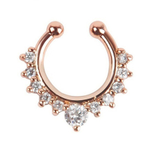 Nose Hoop Nose Rings Body Piercing Jewelry Fake Septum Clicker Non Piercing Hanger Clip On Jewelry Fashion Gift C48