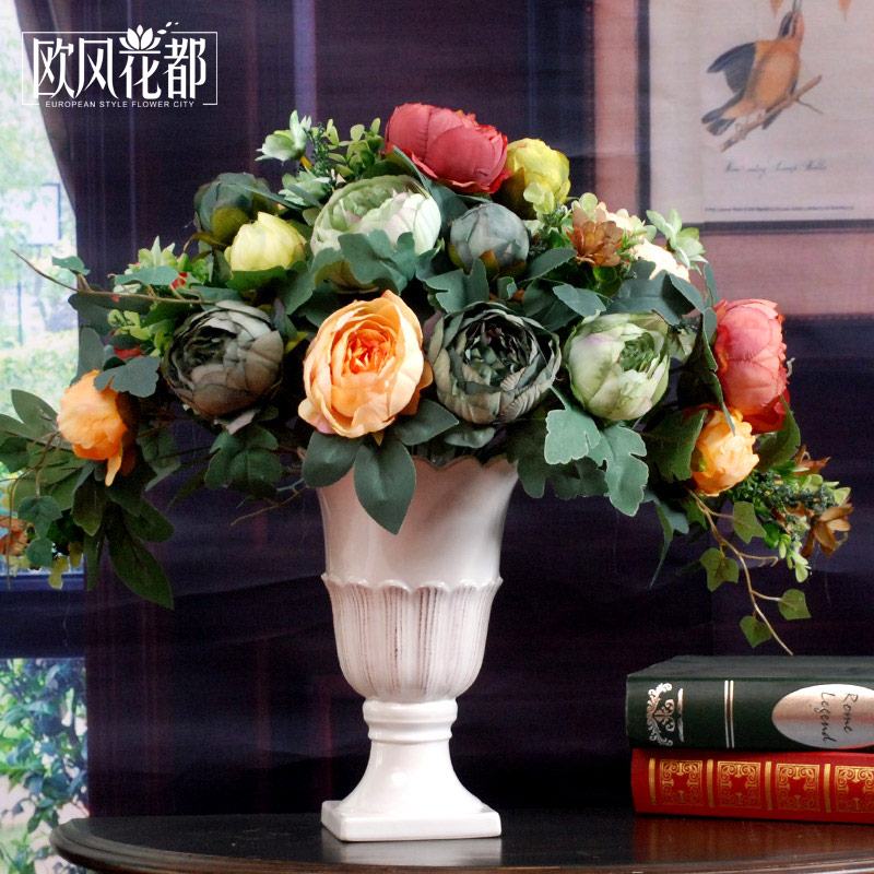 Living room table flower arrangement ceramic decoration flower flower