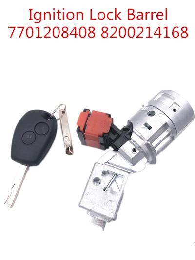 Ignition Switch For Renault Clio MK3 Modus Kangoo Twingo 2005-2012 Ignition Barrel Key 8200214168 7701208408