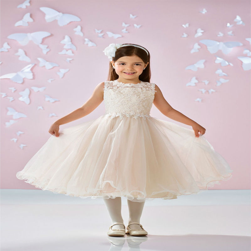 A-Line Princess Flower Girl Dresses With Lace Kids Rhinestones Pageant Dress Sleeveless Mother Daughter Dresses for Girls Party a line flower girl dress mint green sleeveless o neck little girl pageant dresses kids party dress lace mother daughter dresses