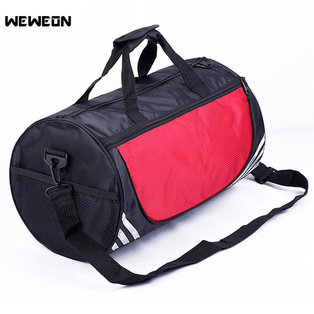 Waterproof Nylon Gym Bags Men Portable Sport Fitness Bag Single Shoulder Yoga Training Bag For Football Basketball Five Colours