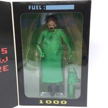 Verde Carburante 40TH Leatherface Il Texas Chainsaw MASSACRE Action PVC Figure Collezione Model Toy 7 18 cm spedizione gratuita