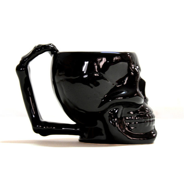 Gothic Skull coffee cup super cool Black Skull skull cup cup personality cups Creative Gift Mug 2