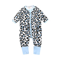 2017 New Spring Autumn Leopard Long Sleeve Baby Boys Foot Cover Rompers Jumpsuit Newbrn Toddler Baby