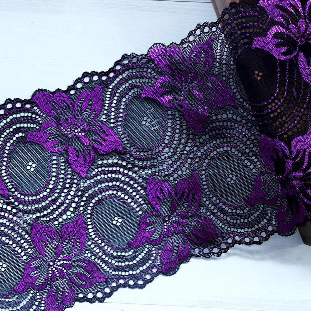 2 metre 18 cm genişlik elastik şerit süs Şerit Işlemeli nijeryalı afrika Streç Dantel Kumaş Dikiş Aplike düğün elbisesi DIY