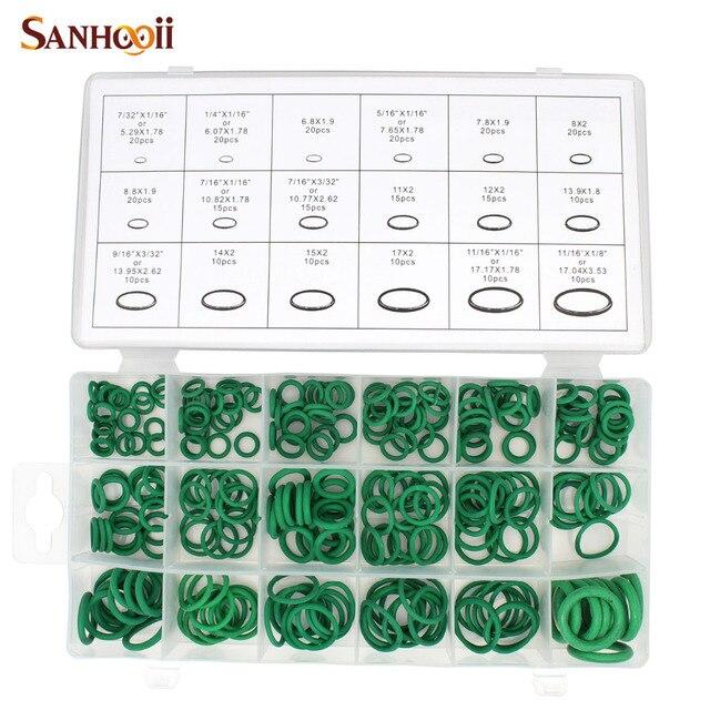 SANHOOII 270Pcs 18 Sizes O ring Kit Green Metric O ring Seals ...