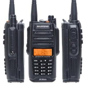 Image 4 - Baofeng UV 9R Mate 4500 mAh 10 W Aggiornamento UV 9R Più IP67 Impermeabile Walkie Talkie per CB Stazione Radio di Prosciutto 10 KM Lungo Raggio VHF UHF