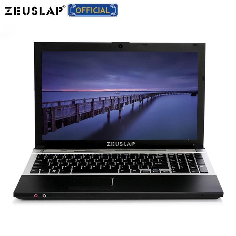 15.6 polegada 8G RAM 1 TB HDD Intel Quad Core do Windows 7/10 Sistema de Notebook para a escola, computador de casa ou escritório laptop com DVD ROM
