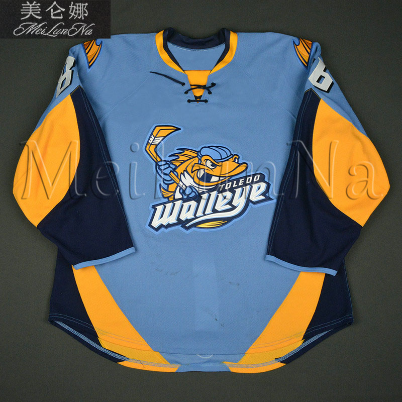 Customize ECHL Toledo Walleye 86 Evan Rankin Jersey Road Blue1
