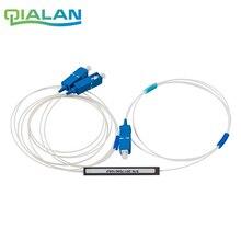 10pcs 1x2 PLC Fiber Splitter SC UPC, Mini Module, 900um, SC/UPC Optical Coupler Singlemode Steel Pipe PLC optical splitter 1pc used begala plc module base x20 bm x20bm01 01