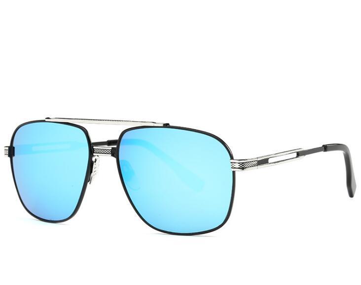 Mode Coréenne lunettes de Soleil Hommes Femmes Marque Designer Carré Miroir  de Lunettes De Soleil Rétro 0c786c28402c