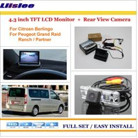 Liislee For Citroen Berlingo For Peugeot Grand Raid / Partner Car Reverse Rear Camera + 4.3 LCD Monitor = 2 in 1 Parking System