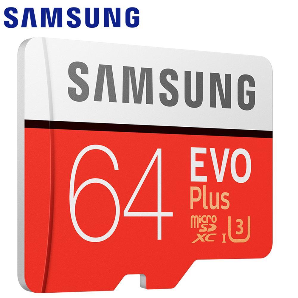 SAMSUNG EVO Plus + carte mémoire Micro SD 128 Go 32 Go 64 Go 256 Go 512 Go carte Micro SD/TF carte Flash carte microSD pour téléphone Go Pro