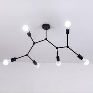 Image 3 - רב ראשי תקרת אורות Led תקרת מנורת רטרו תעשייתי Luminaria אישיות Lamparas לסלון Plafonnier אורות