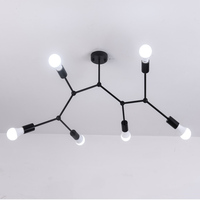 Multi Heads Ceiling Lights Led Lamp Retro Industrial Luminaria Personality Lamparas For Living Room Plafonnier Lights