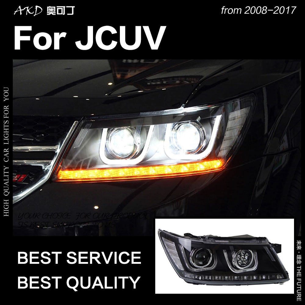 AKD Car Styling for Dodge JCUV Headlights 2009 2017 Journey Headlight LED DRL Hid Freemont Angel