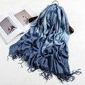 Осень Зима 2016 западная мода марка Шарф женщин lady имитация Кашемира Шарфы роскошные дизайнер 10 Цветов Теплый Платок Обертывания