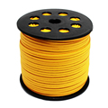 100 Meters/Roll 3mm x 1.5mm Yellow  Flat Faux Suede Velvet Half Side Leather Cord Beading Thread Fit FriendShip Bracelet DIY