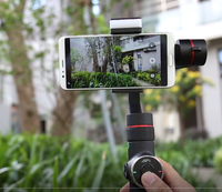 V5 Hand held gimbal smartphone video stabilizer Three axis Portable Handheld Gimbal Horizontal Vertical Shoot / Face Tracking