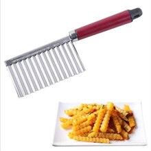 Горячая Нержавеющая сталь кухонный гаджет для овощей и фруктов нарезка резка-пилинг инструменты для приготовления пищи для волнистой нарезки картофеля Обрезной нож аксессуары