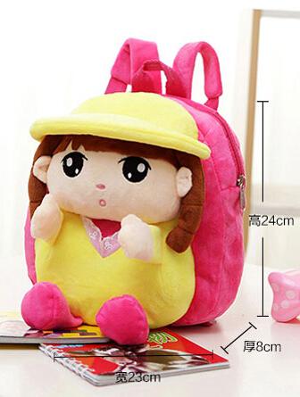 Crianças recheado de pelúcia boneca presentes do jardim de infância mochila crianças saco menina pré-escolar bonito pequeno mochilas criança mochila peluche