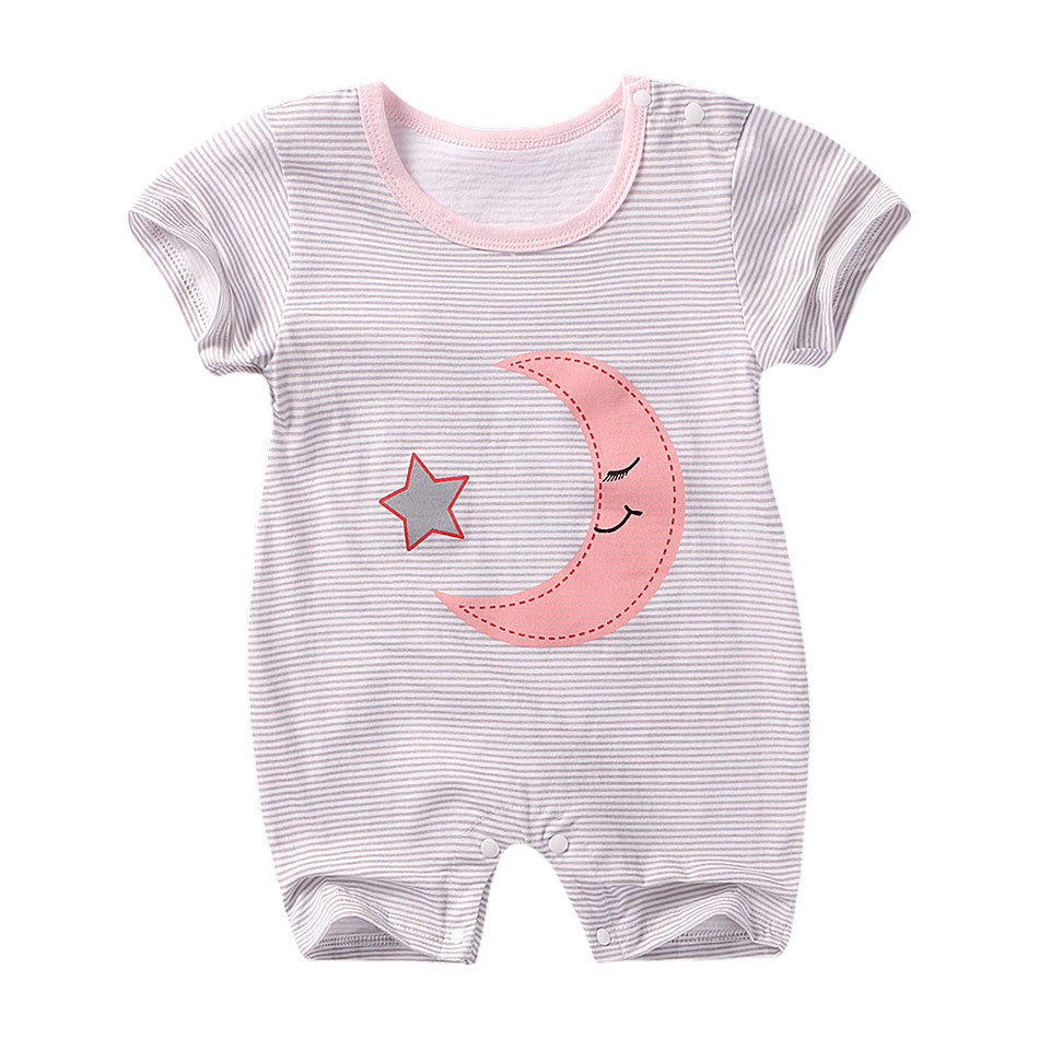 Summer New style baby rompers Short sleeve Newborn Infant Baby Boy Girl clothes Cute Cartoon Printed Jumpsuit Climbing Clothes 1