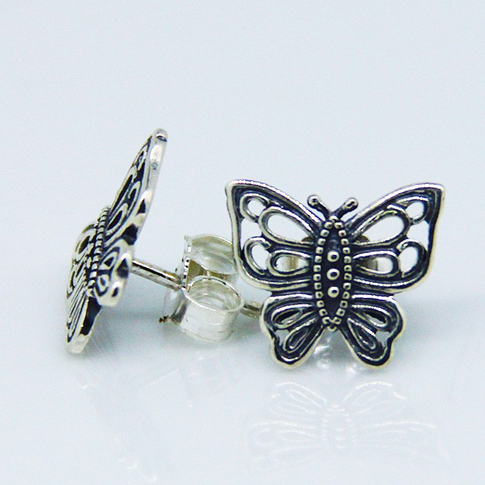 6401dd1ca ... Love Takes Flight Stud Earring Authentic 925 Sterling Silver Jewelry  Free Shipping-in Earrings from ...