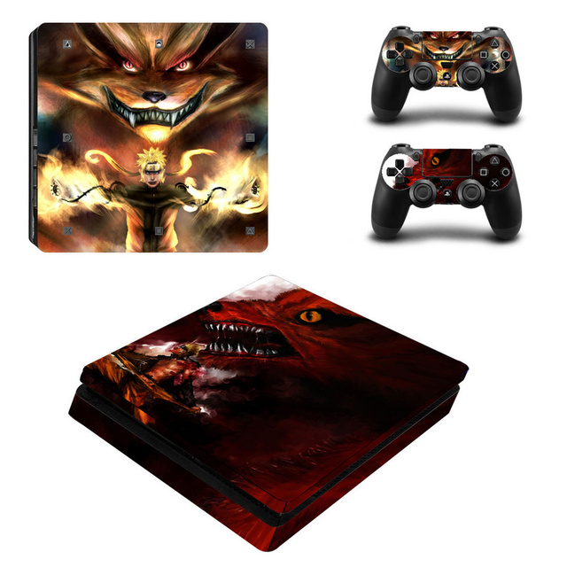 Naruto Vinyl Decal For PS4 Slim Skin Stickers Wrap for Sony PlayStation 4 Slim Console and 2 Controllers Skins  5