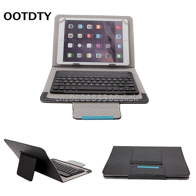 7-10inch Black PU Leather Detachable Wireless Bluetooth Keyboard With Tablet Case Cover Stand+Give Tablets Pen For ipad #H029# new wireless bluetooth keyboard stand pu leather cover case for apple ipad mini 1 2 3 7 9 inch tablet