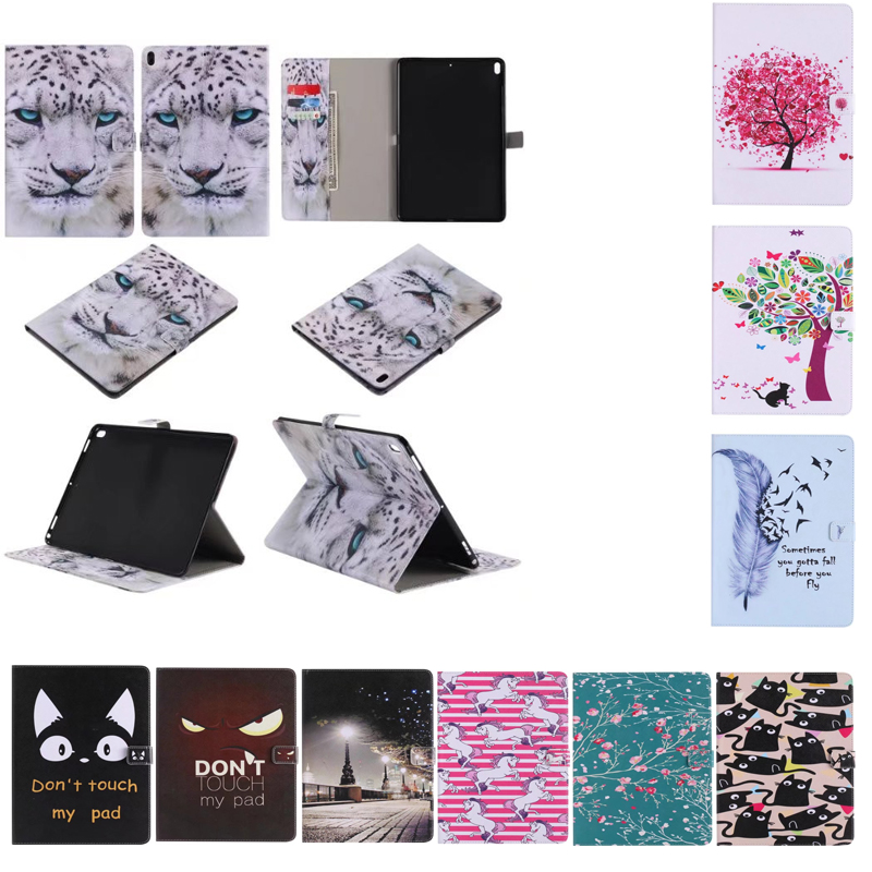 Case for iPad Pro 10.5 inches,Luxury Printings Flip PU Leather Case for iPad Pro 10.5 Fashion Smart Cover with Card Slots for apple ipad air 2 pu leather case luxury silk pattern stand smart cover